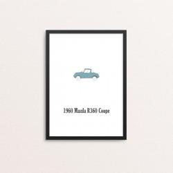 Plakat: Biler, '1960 Mazda...