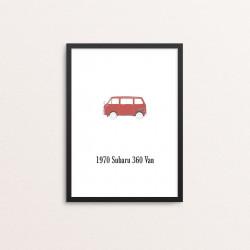 Plakat: Biler, '1970 Subaru...