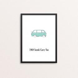 Plakat: Biler, '1969 Suzuki...