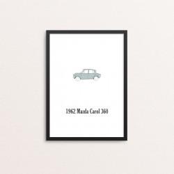 Plakat: Biler, '1962 Mazda...