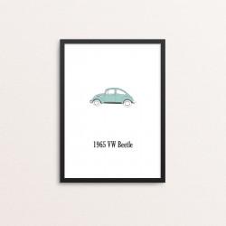 Plakat: Biler, '1965 VW...