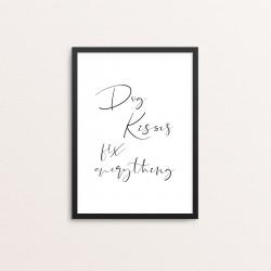 Plakat: 'Dog Kisses fix...