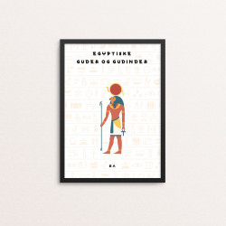 Plakat: 'EGYPTISKE GUDER OG...