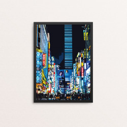 Plakat: Japan City Night,...