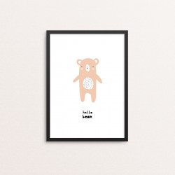 Plakat: 'hello bear'...
