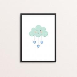 Plakat: Cloud, grøn