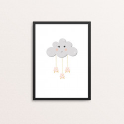 Plakat: Cloud, pink