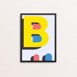Plakat: Bogstavet B, CMYK