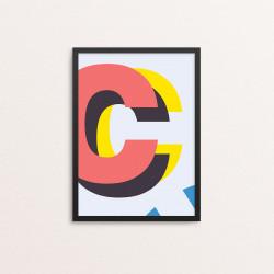 Plakat: Bogstavet C, CMYK