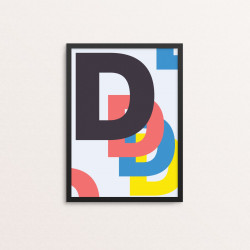 Plakat: Bogstavet D, CMYK