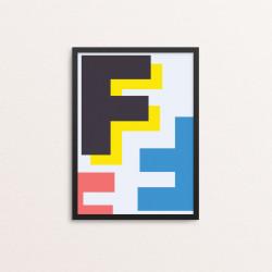 Plakat: Bogstavet F, CMYK