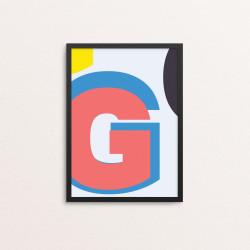 Plakat: Bogstavet G, CMYK
