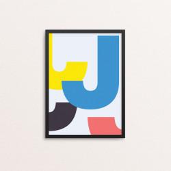 Plakat: Bogstavet J, CMYK