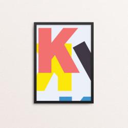 Plakat: Bogstavet K, CMYK