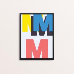 Plakat: Bogstavet M, CMYK