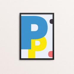 Plakat: Bogstavet P, CMYK