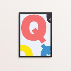 Plakat: Bogstavet Q, CMYK