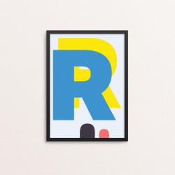 Plakat: Bogstavet R, CMYK