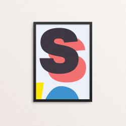 Plakat: Bogstavet S, CMYK