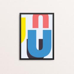 Plakat: Bogstavet U, CMYK