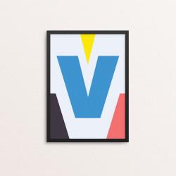 Plakat: Bogstavet V, CMYK