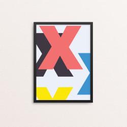 Plakat: Bogstavet X, CMYK