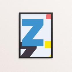 Plakat: Bogstavet Z, CMYK