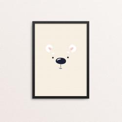 Plakat: Isbjørn i et