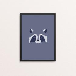 Plakat: Vaskebjørn i et