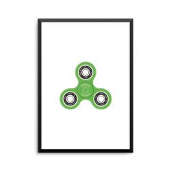 Plakat: Fidget spinner, grøn