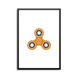 Plakat: Fidget spinner, orange