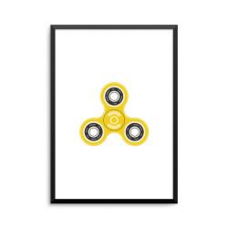 Plakat: Fidget spinner, gul
