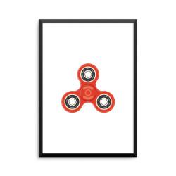 Plakat: Fidget spinner, rød