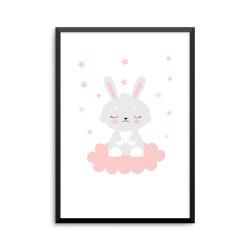 Plakat: Sovende kanin på en...