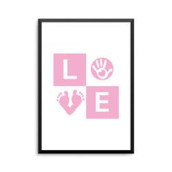 Plakat: 'LOVE' baby, pink
