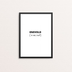 Plakat: Enevold lydskrift