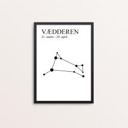 Plakat: Stjernetegn 01, DK...