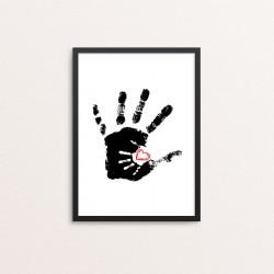 Plakat: Hænder og hjerte