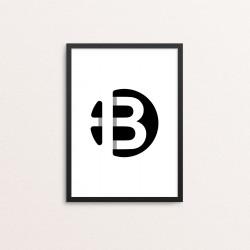 Plakat: Bogstavet B
