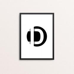 Plakat: Bogstavet D