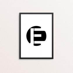 Plakat: Bogstavet E
