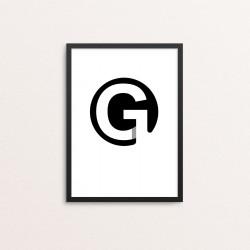 Plakat: Bogstavet G