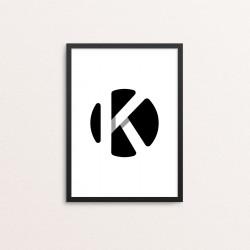 Plakat: Bogstavet K