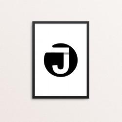 Plakat: Bogstavet J