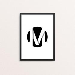 Plakat: Bogstavet M