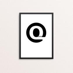 Plakat: Bogstavet Q