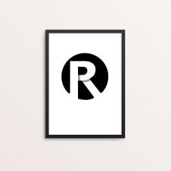 Plakat: Bogstavet R