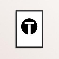 Plakat: Bogstavet T