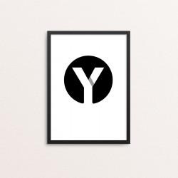 Plakat: Bogstavet Y